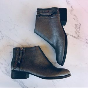 Vince Camuto Catile Metallic Silver Booties
